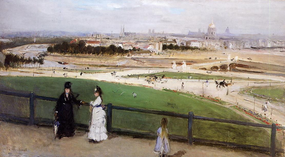 Berthe Morisot vue de Paris