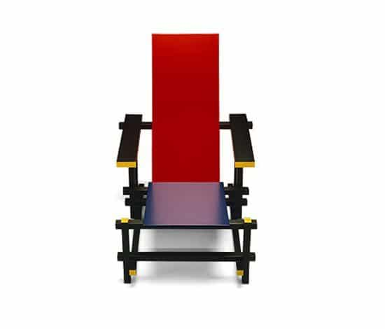 Chaise bleue rouge Gerrit Rietveld