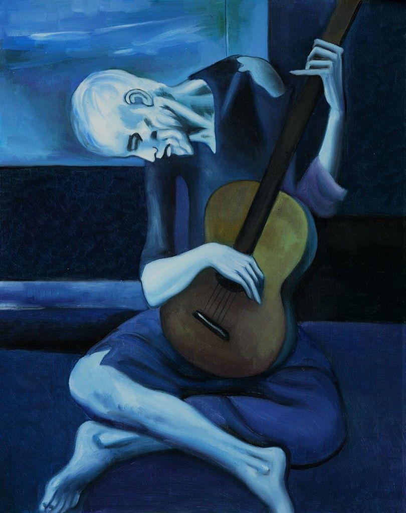 Le vieux guitariste aveugle