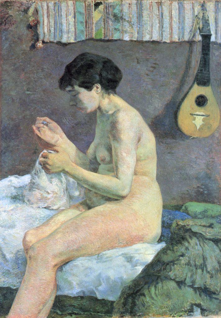 Suzanne cousant ou étude de nu, Paul Gauguin