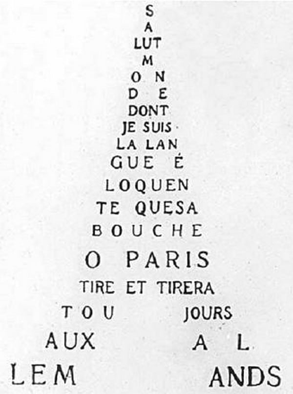caligramme apollinaire